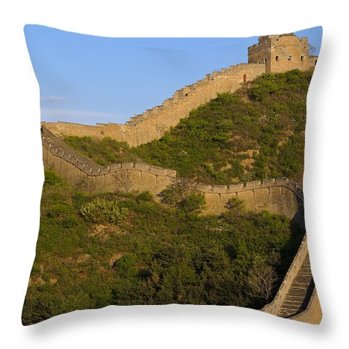 Great Wall Throw Pillow featuring the photograph Great Wall Of China by John Shaw