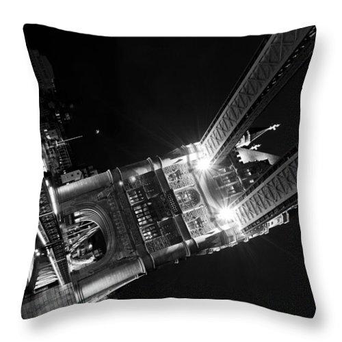 Tower Bridge Throw Pillow featuring the photograph Tower Bridge London by David Pyatt