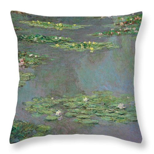 Monet Throw Pillow featuring the painting Water Lilies by Claude Monet