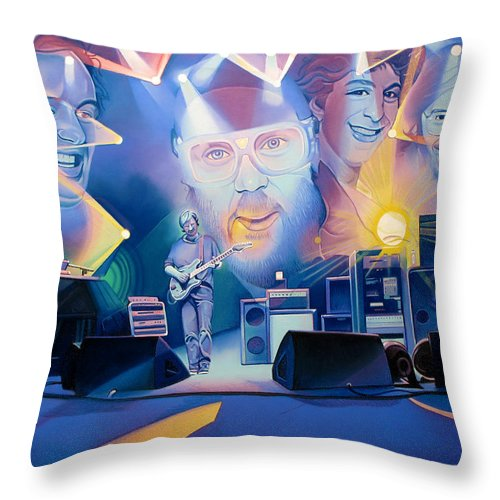 Phish Throw Pillow featuring the drawing Phish-20 Years Later by Joshua Morton
