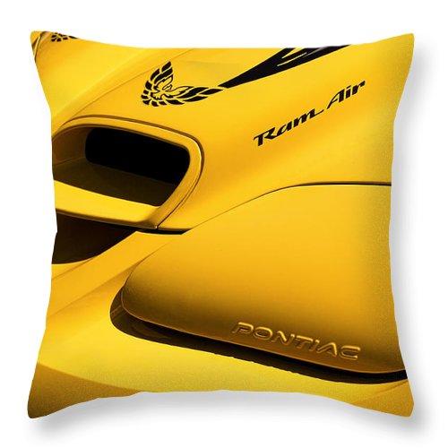 2002 Throw Pillow featuring the photograph 2002 Pontiac Trans Am Collector Edition by Gordon Dean II