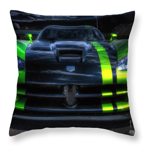 2010 Dodge Viper Acr Throw Pillow featuring the photograph 2010 Dodge Viper Acr by David B Kawchak Custom Classic Photography
