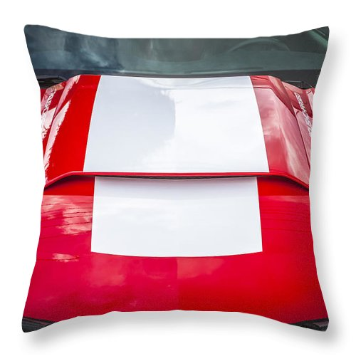 Ford Mustang Throw Pillow featuring the photograph 2010 Ford Roush 427 Mustang by Rich Franco