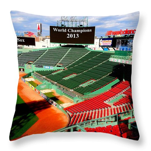Baseball Throw Pillow featuring the photograph 2013 Champions by Caroline Stella