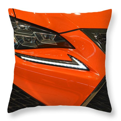 2015 Throw Pillow featuring the photograph 2015 Lexus Front End by Mike Martin