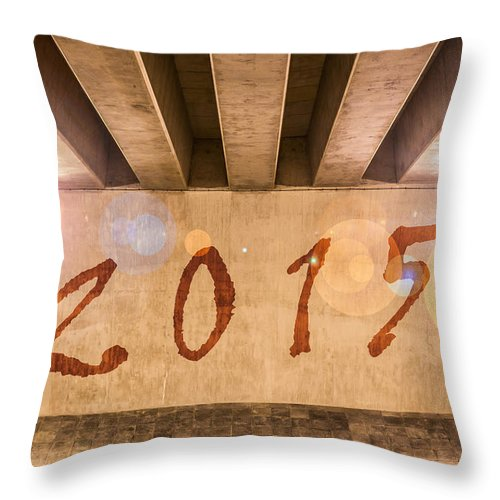 2015 Throw Pillow featuring the photograph 2015 by Semmick Photo