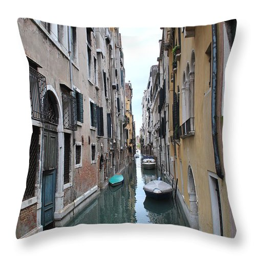 Canal Throw Pillow featuring the photograph Venice Canal by Richard Booth