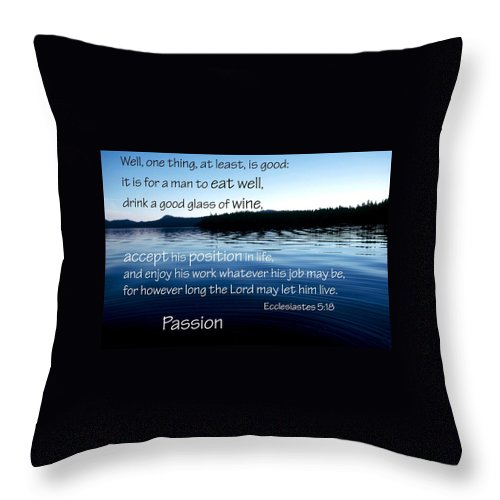 Faith Throw Pillow featuring the photograph 21048 Passion 2 by Jerry Sodorff