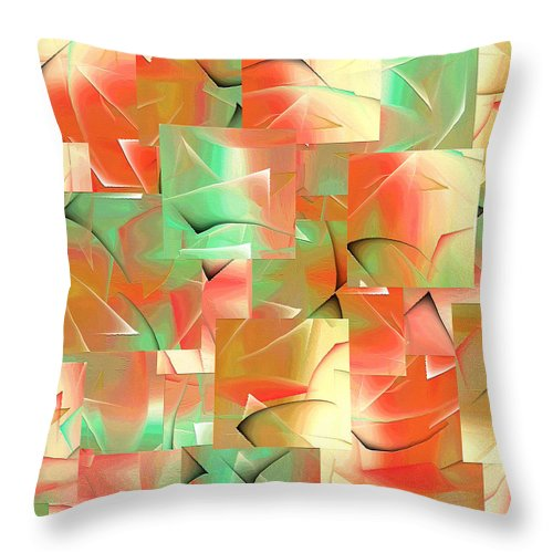 Abstract Throw Pillow featuring the painting 214a by Ely Arsha