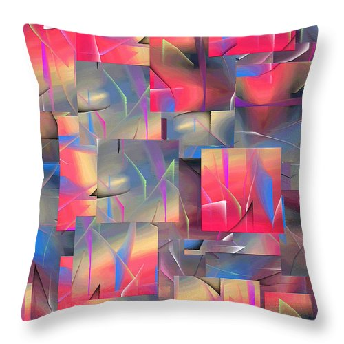Abstract Throw Pillow featuring the painting 215a by Ely Arsha