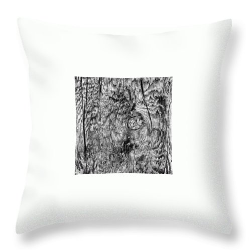 Beautiful Throw Pillow featuring the photograph Wooden Post B 'n' W by J Love