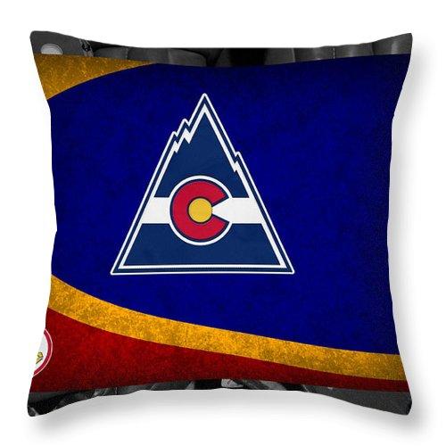 Rockies Throw Pillow featuring the photograph Colorado Rockies by Joe Hamilton