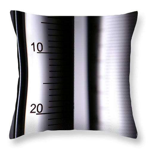 Chemical Throw Pillow featuring the photograph Laboratory Equipment In Science Research Lab by Science Research Lab By Olivier Le Queinec