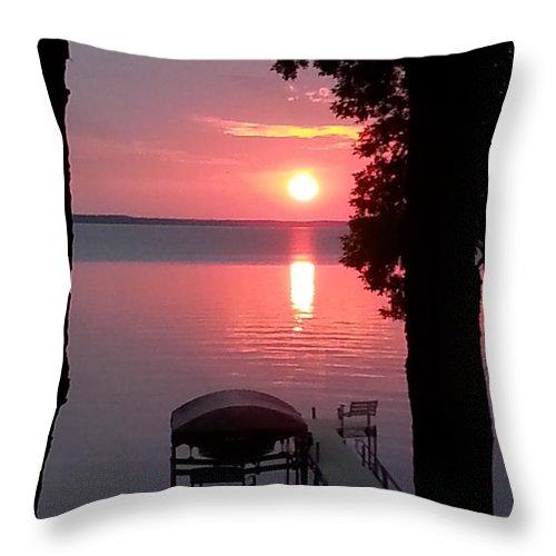 Sunset Throw Pillow featuring the photograph Sunset by Judi Deziel