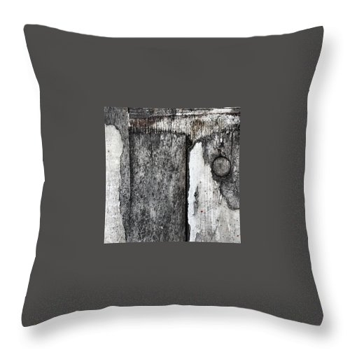 Beautiful Throw Pillow featuring the photograph Wood on the Wall by J Love