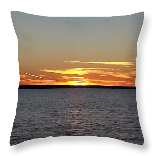 Sunset Throw Pillow featuring the photograph Sunset by Judi Deziel