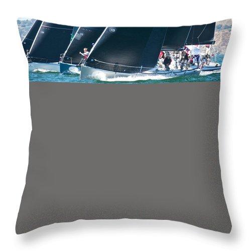 Golden Gate Throw Pillow featuring the photograph San Francisco Regatta by Steven Lapkin