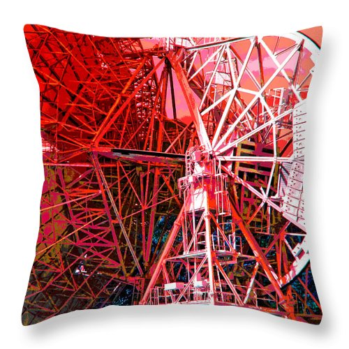 Duane Mccullough Throw Pillow featuring the photograph 26 East Antenna Abstract 2 by Duane McCullough