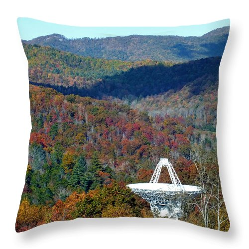 Duane Mccullough Throw Pillow featuring the photograph 26 West Antenna And The Blueridge by Duane McCullough