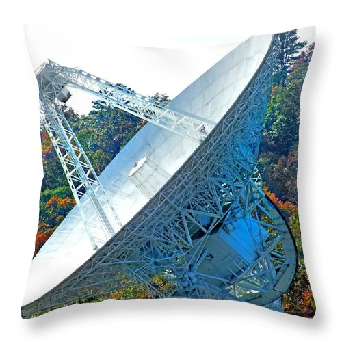 Duane Mccullough Throw Pillow featuring the photograph 26 West Antenna Filtered by Duane McCullough