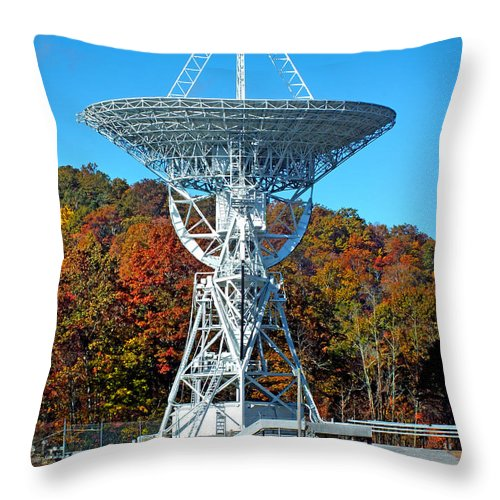 Duane Mccullough Throw Pillow featuring the photograph 26 West Antenna Looking Up by Duane McCullough