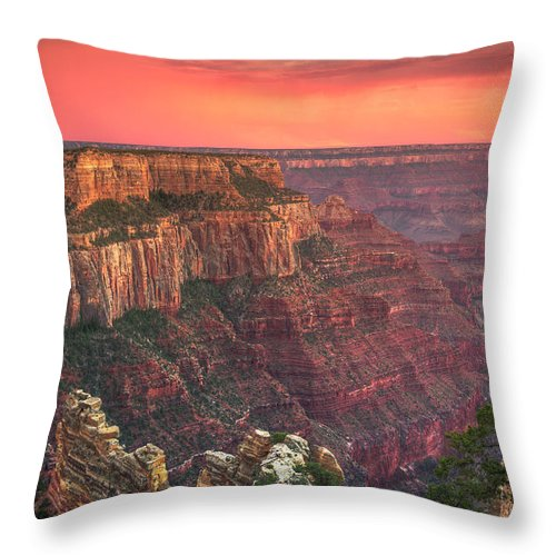 Tranquility Throw Pillow featuring the photograph Grand Canyon National Park by Michele Falzone