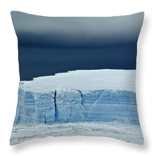 Iceberg Throw Pillow featuring the photograph Iceberg, Antarctica by John Shaw