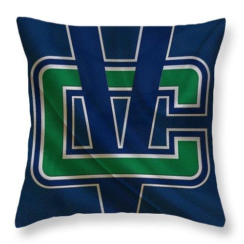 Canucks Throw Pillow featuring the photograph Vancouver Canucks by Joe Hamilton