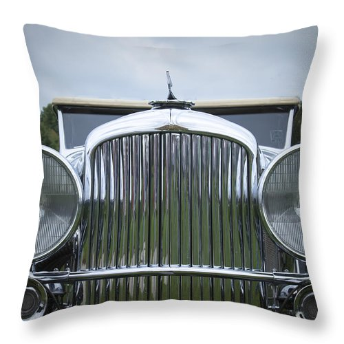 Antique Throw Pillow featuring the photograph 1932 Duesenburg by Jack R Perry