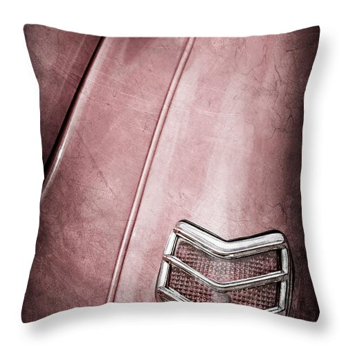 1940 Ford Deluxe Coupe Taillight Throw Pillow featuring the photograph 1940 Ford Deluxe Coupe Taillight by Jill Reger