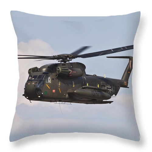 Germany Throw Pillow featuring the photograph A Ch-53gs Of The German Army by Timm Ziegenthaler