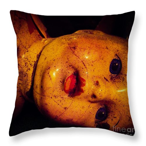 Sweet Throw Pillow featuring the photograph Abandoned Vintage by Candace Rowlands