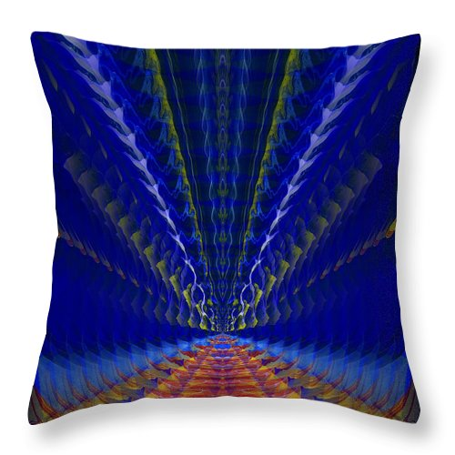 Original Throw Pillow featuring the painting Abstract 105 by J D Owen