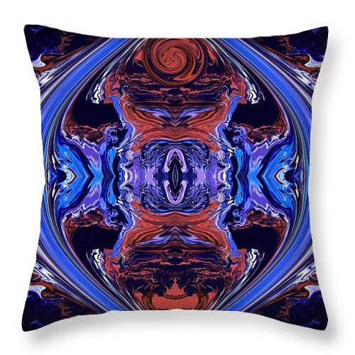 Original Throw Pillow featuring the painting Abstract 110 by J D Owen