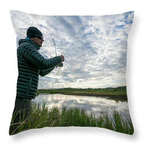 Dawn Throw Pillow featuring the photograph Adventures In Aniakchak, Ak by Gabe Rogel