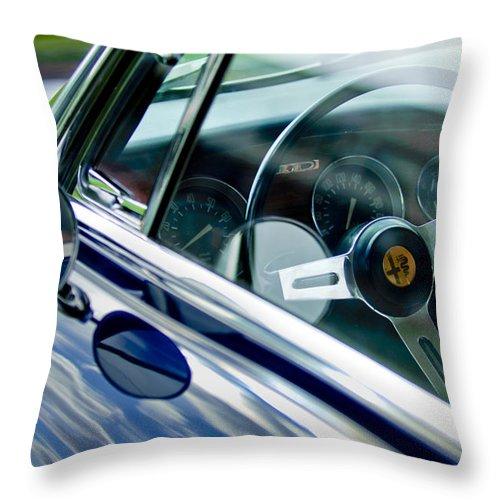 Alfa Romeo Throw Pillow featuring the photograph Alfa Romeo Steering Wheel by Jill Reger