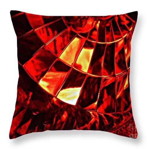 Glass Throw Pillow featuring the photograph Brake Light 12 by Sarah Loft