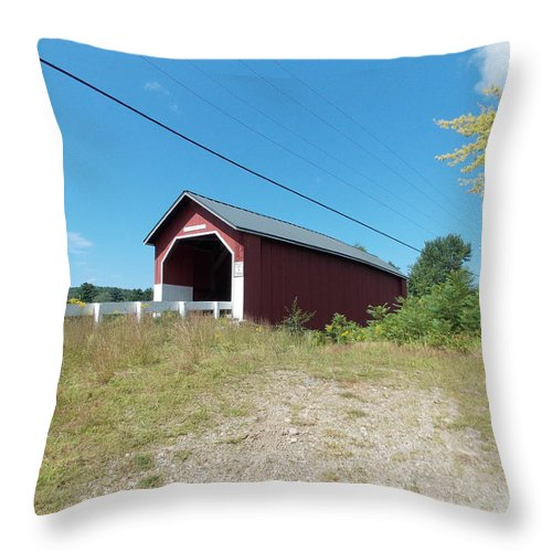 Carlton Bridge Throw Pillow featuring the photograph Carlton Bridge by Catherine Gagne