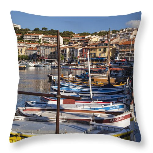 Boating Throw Pillow featuring the photograph Cassis Boats by Brian Jannsen