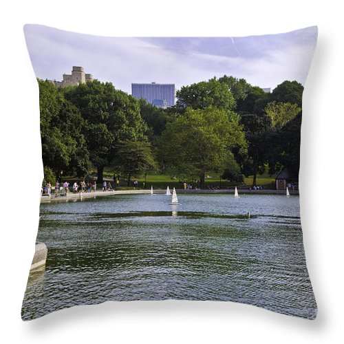 Pond Throw Pillow featuring the photograph Central Park Pond by Madeline Ellis