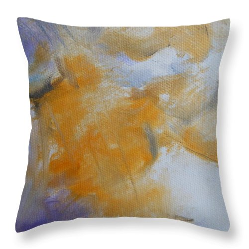 Abstract Throw Pillow featuring the painting Clouds by Lord Frederick Lyle Morris - Disabled Veteran