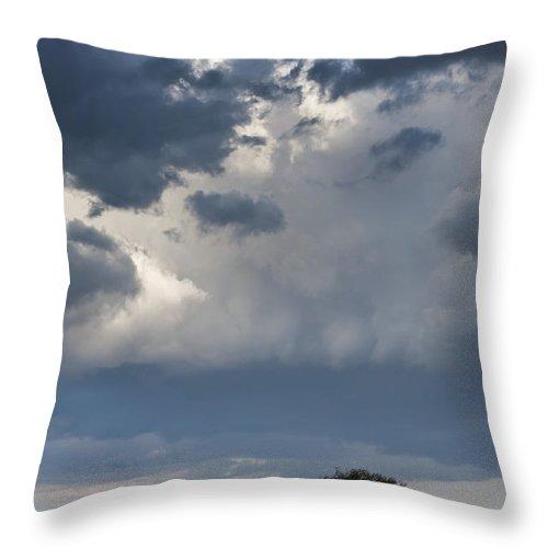Africa Throw Pillow featuring the photograph Clouds Over Maasai Mara, Kenya by John Shaw
