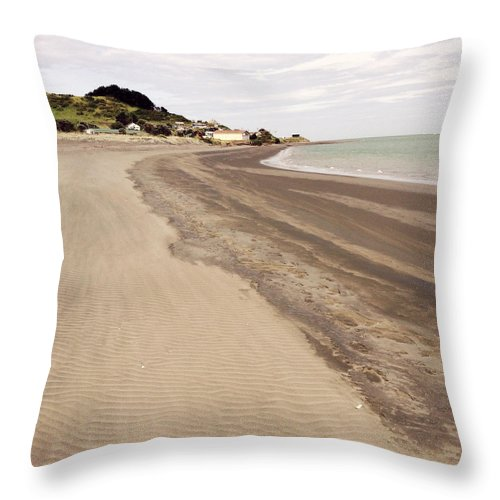 Sand Throw Pillow featuring the photograph Coastline by Les Cunliffe