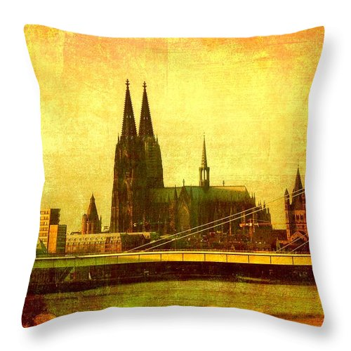 Cologne Throw Pillow featuring the photograph Cologne by Gabi Siebenhuehner