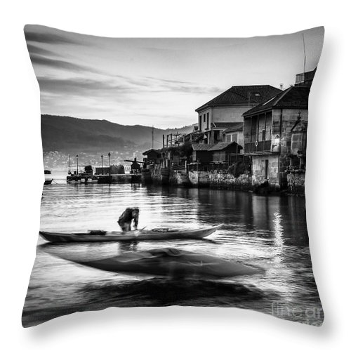 Galicia Throw Pillow featuring the photograph Combarro Pontevedra Galicia Spain by Pablo Avanzini