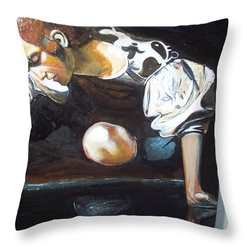 Throw Pillow featuring the painting Detail by Jude Darrien