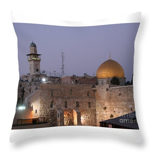 Al Aqsa Mosque Throw Pillow featuring the photograph Dome by Doc Braham