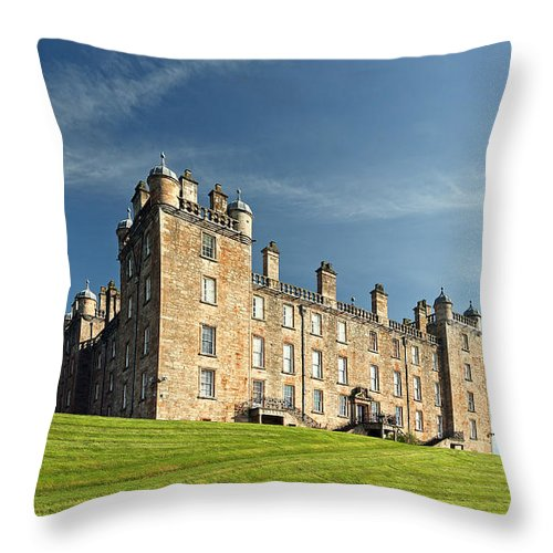 Old Throw Pillow featuring the photograph Drumlanrig Castle by Grant Glendinning