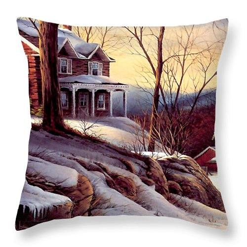 Early Morning Throw Pillow featuring the photograph Early Morning by Munir Alawi