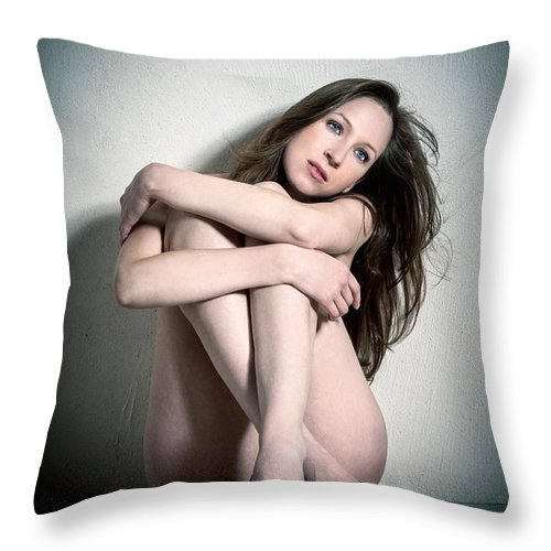 Attractive Throw Pillow featuring the photograph Erotic Beauty by Jochen Schoenfeld